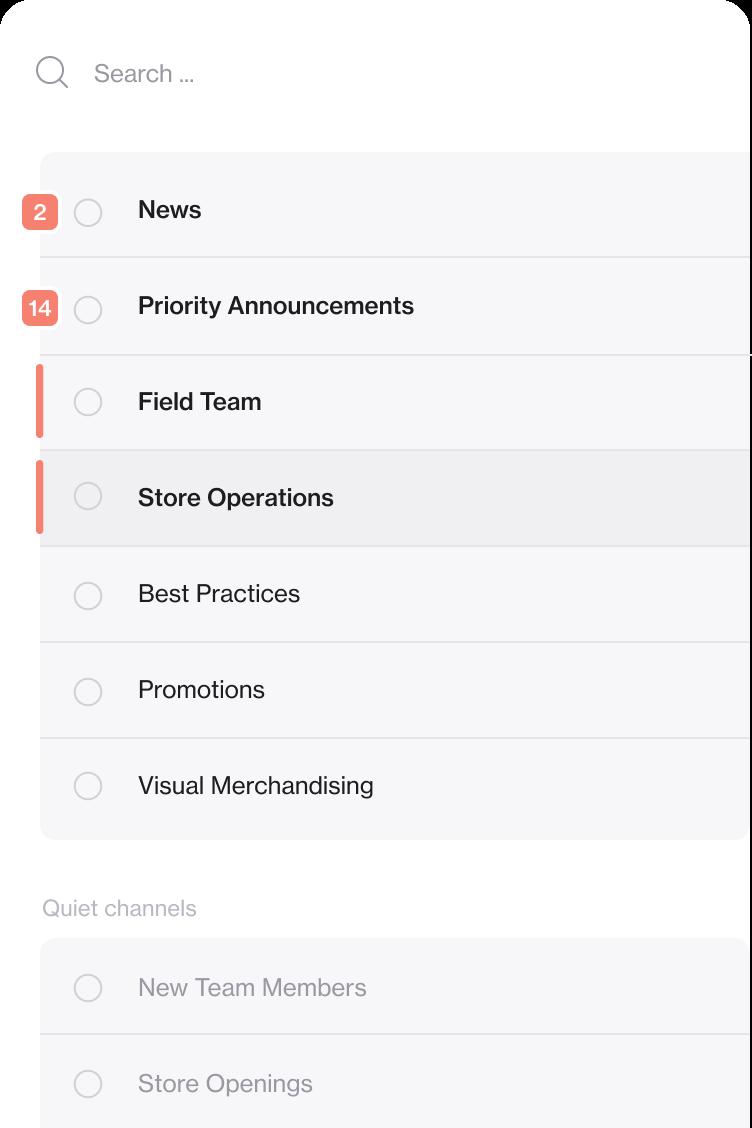 Screenshot of Foko Retail App channel list
