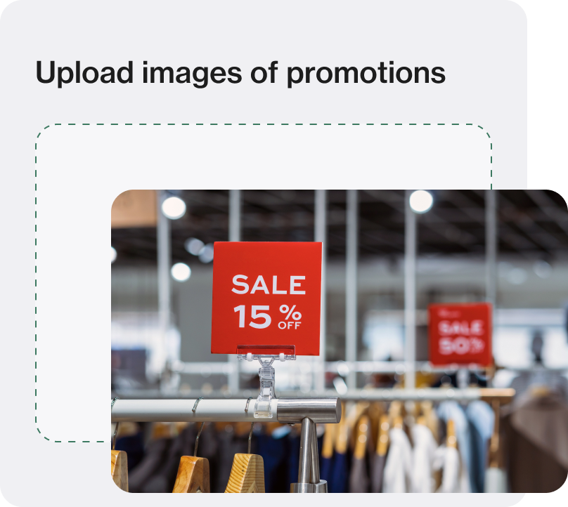 Screenshot of store management software Foko Retail task image upload of a retail store promotions