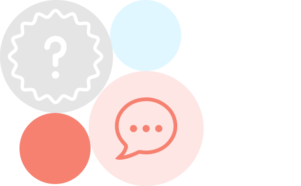 Question mark and speech bubble icons