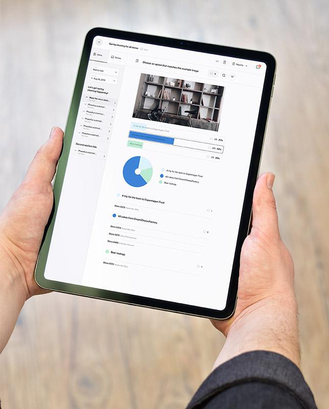 Retail audit software Foko Retail on tablet