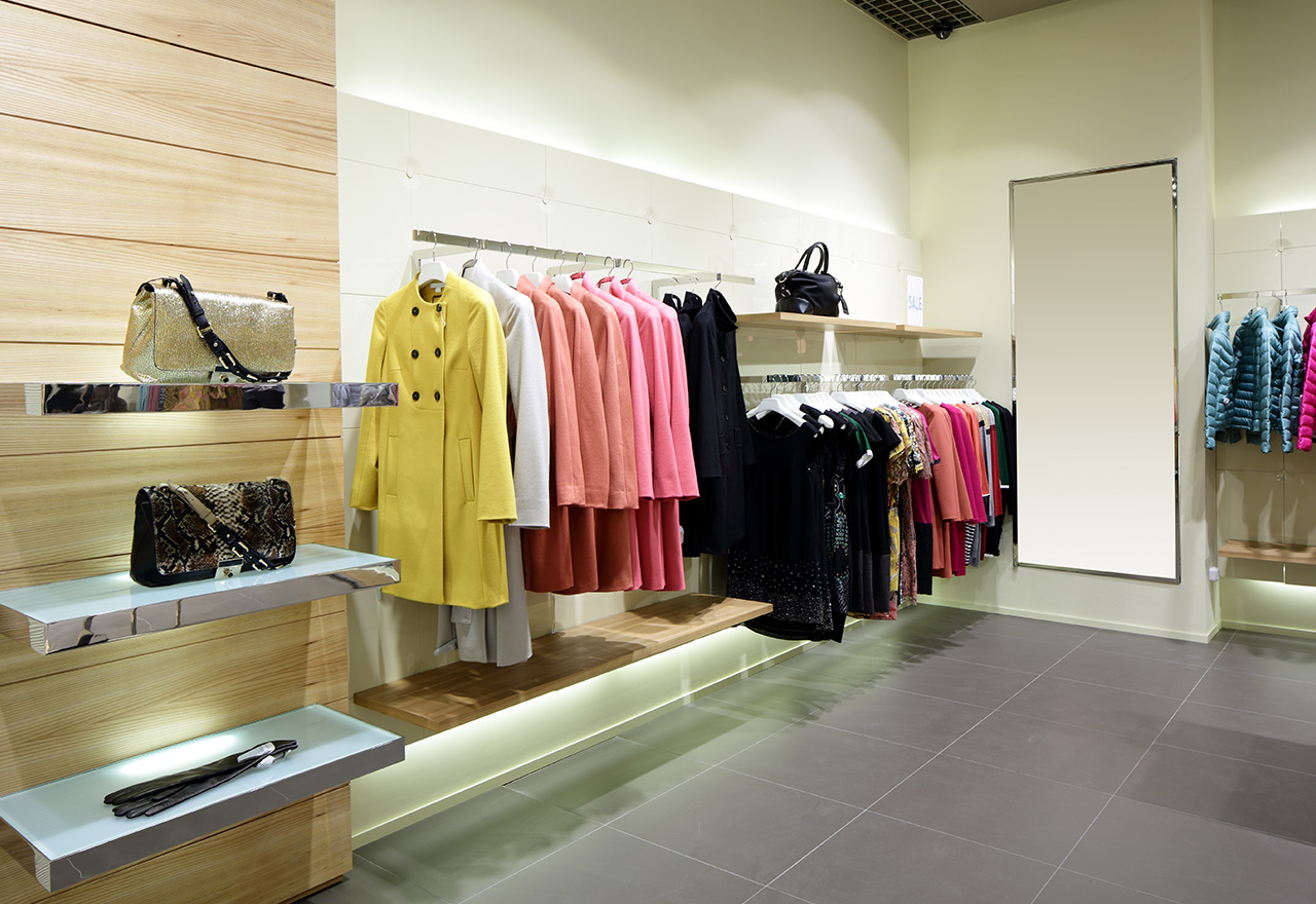 Women's clothing and other merchandise arranged visually