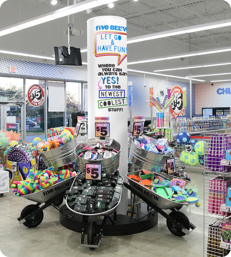 Five Below Store Display - Foko Retail Case Study