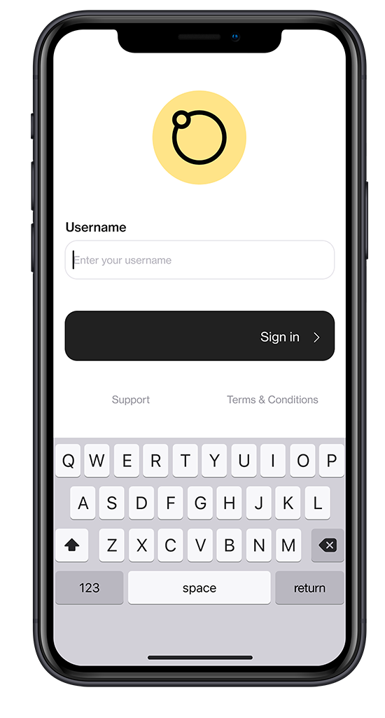 Screenshot of visual merchandising solution Foko Retail login page on a smartphone