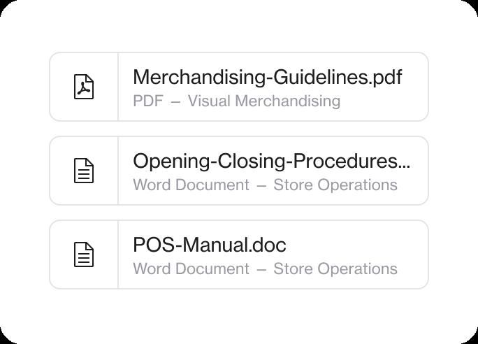 Store management software Foko Retail document management app