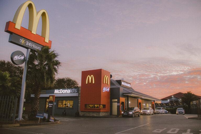 McDonalds restaurant storefront