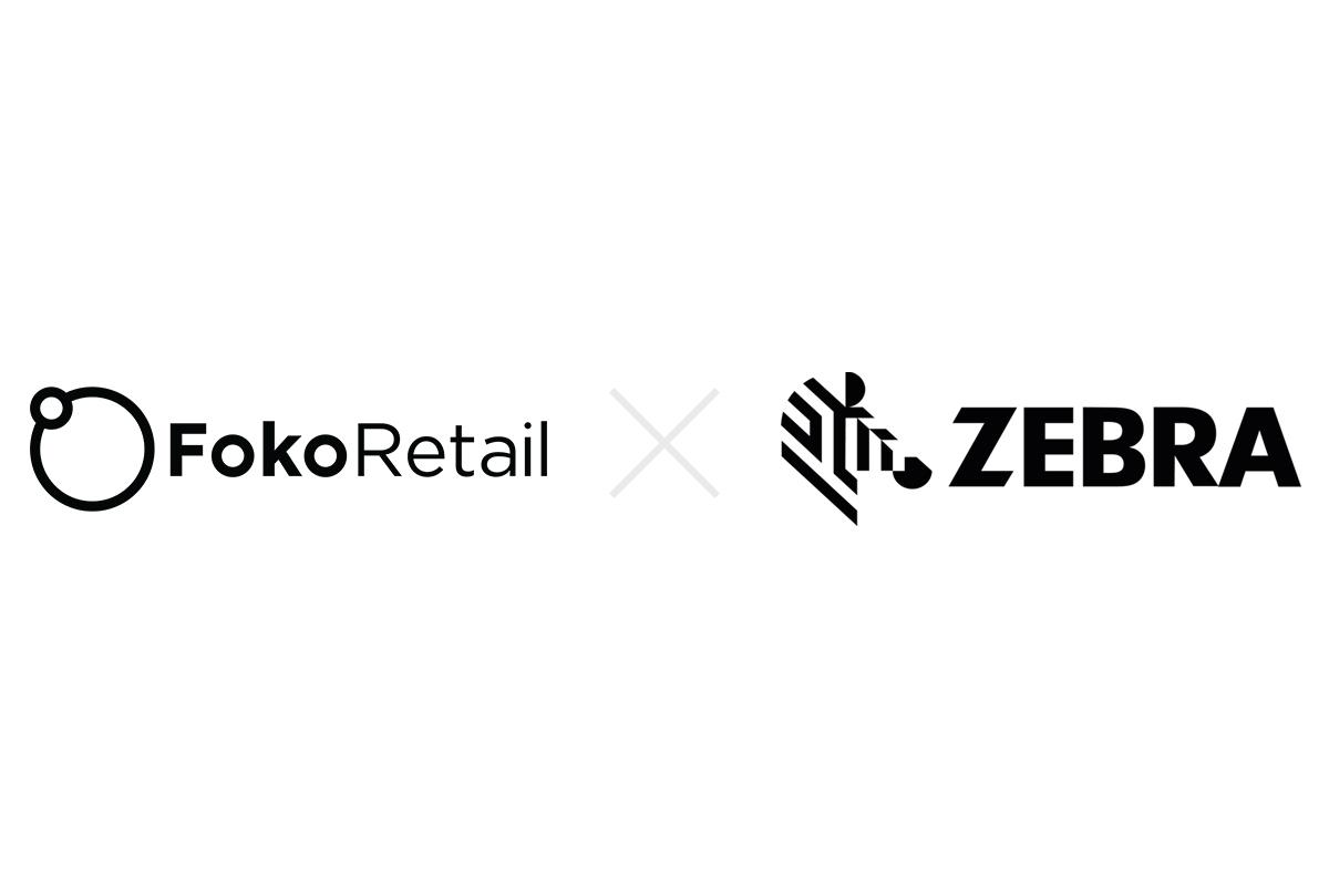 Foko Retail logo and Zebra logo
