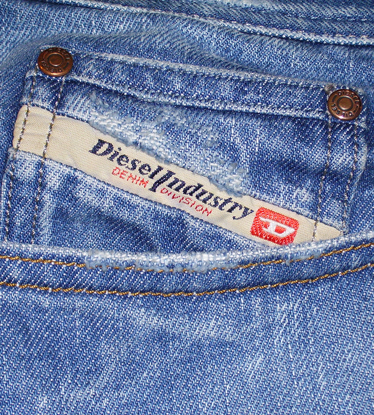 Close up of a pair of Diesel jeans