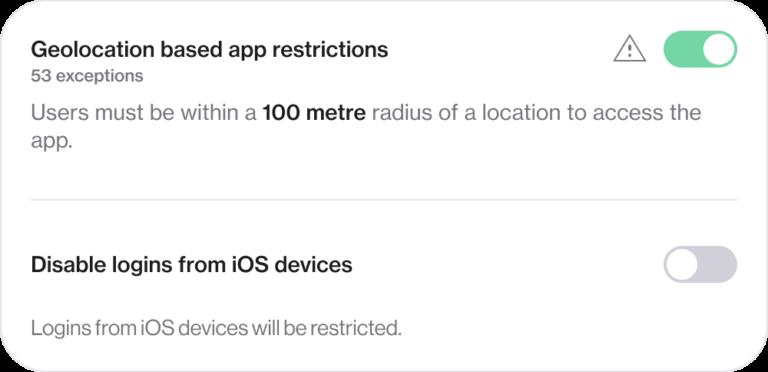 Screenshot of admin controls