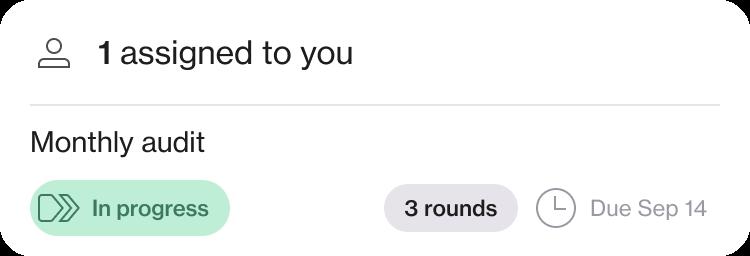Screenshot of a task assignment