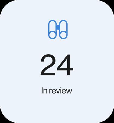 Screenshot of 24 tasks in review