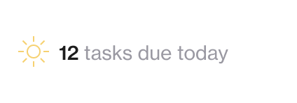 Screenshot of 12 tasks due today