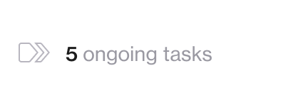 Screenshot of 5 ongoing tasks