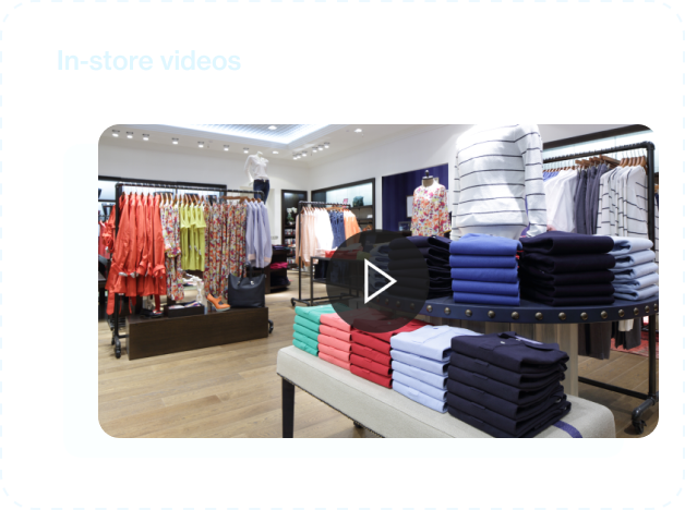 Video thumbnail of an apparel store